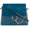 Chloé - cross-body bag - women - calf leather/calf suede - one size, blue, calf leather/calf suede