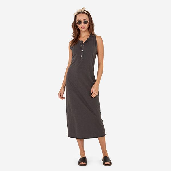 The Avery Midi Dress / Charcoal