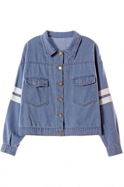 jacket denim acid wash tumblr button up denim jacket cardigan