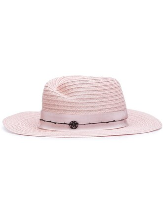 women hat cotton purple pink