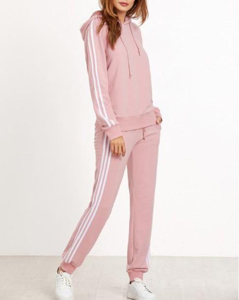 new concept b0379 d1953 jumpsuit girl girly girly wishlist pink adidas sweater hoodie white  matching set two-piece joggers