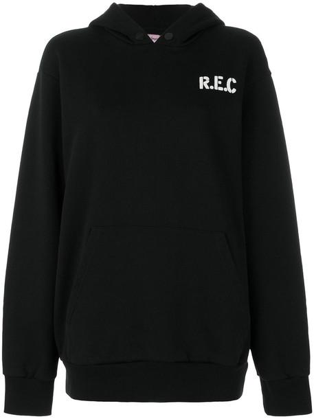 Palm Angels hoodie women cotton black sweater