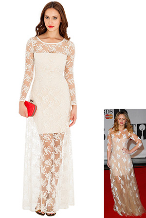 Timeless Lace Maxi Dress in the style of Kimberley Walsh
