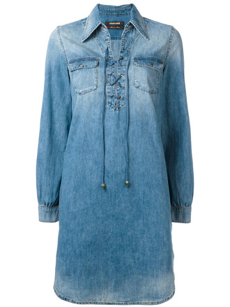 dress shirt dress denim women lace cotton blue