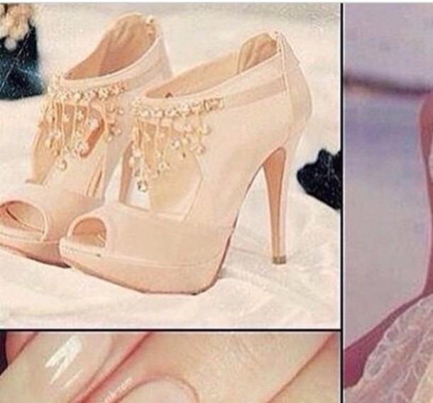 shoes nude heels diamond heels platform heels