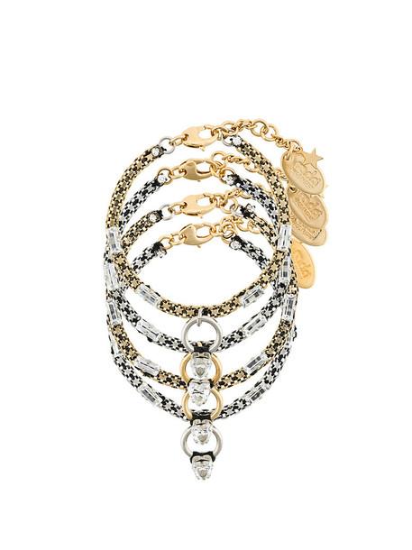RADÀ women embellished ring bracelets silk grey metallic jewels