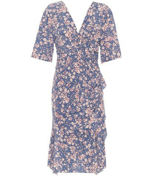 Isabel Marant dress floral silk blue