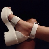 shoes,white,white shoes,platform shoes,heel,lovely,mid heel sandals,heels,beautiful,high heels,white shoes sandals heels,white sandal heels,strappy sandals,sandals