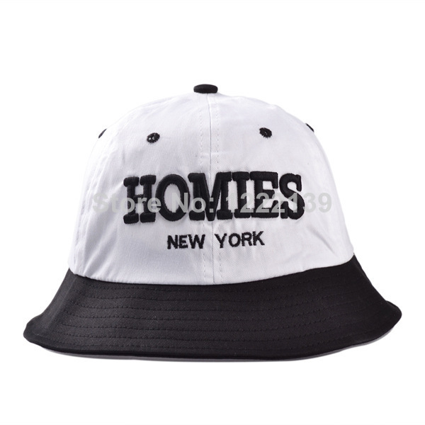 2014 summer New embroidered letters homies basin cap sun visor hat lady new  york bucket hats ... a4652d6973
