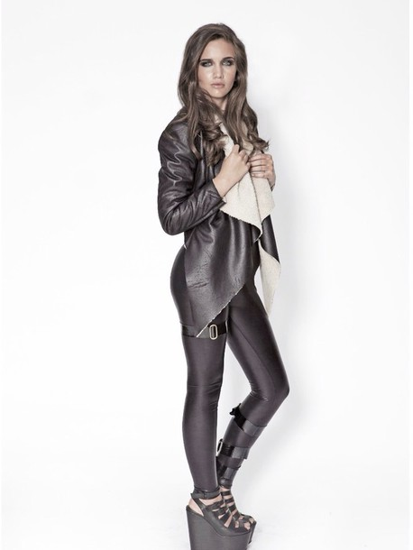 coat black jacket leather jacket black shearling jacket black shearling jacket