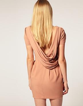 Asos shift dress with cowl back at asos.com