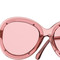 Pink round runway chanel sunglasses with pink lenses