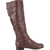 shoes,riding,riding boots,brown,brown leather,fall outfits,style,buckles,zip