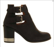 shoes,metal trim,ankle boots,buckles