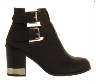 shoes metal trim ankle boots buckles