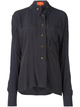 shirt asymmetric shirt women black silk top