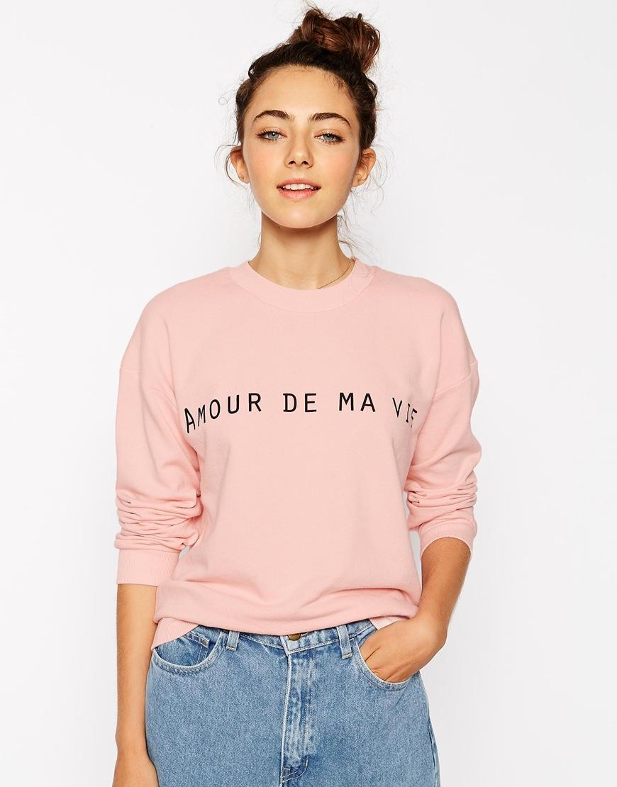Asos sweatshirt with love of my life print at asos.com