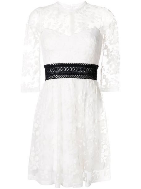 Three Floor dress women white cotton