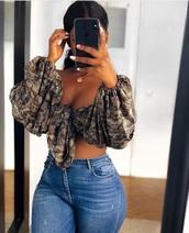 shirt,top,print,pattern,ethnic pattern,boho,boho chic,crop tops,crop,cropped,blouse