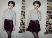 skirt,velvet,velvet skirt,red skirt,burgundy
