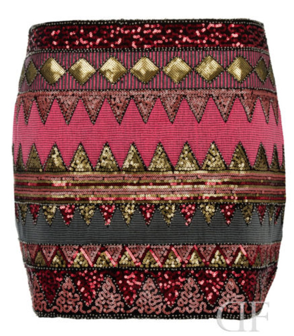 skirt sequins sequin skirt aztec aztec skirt sequins tribal pattern