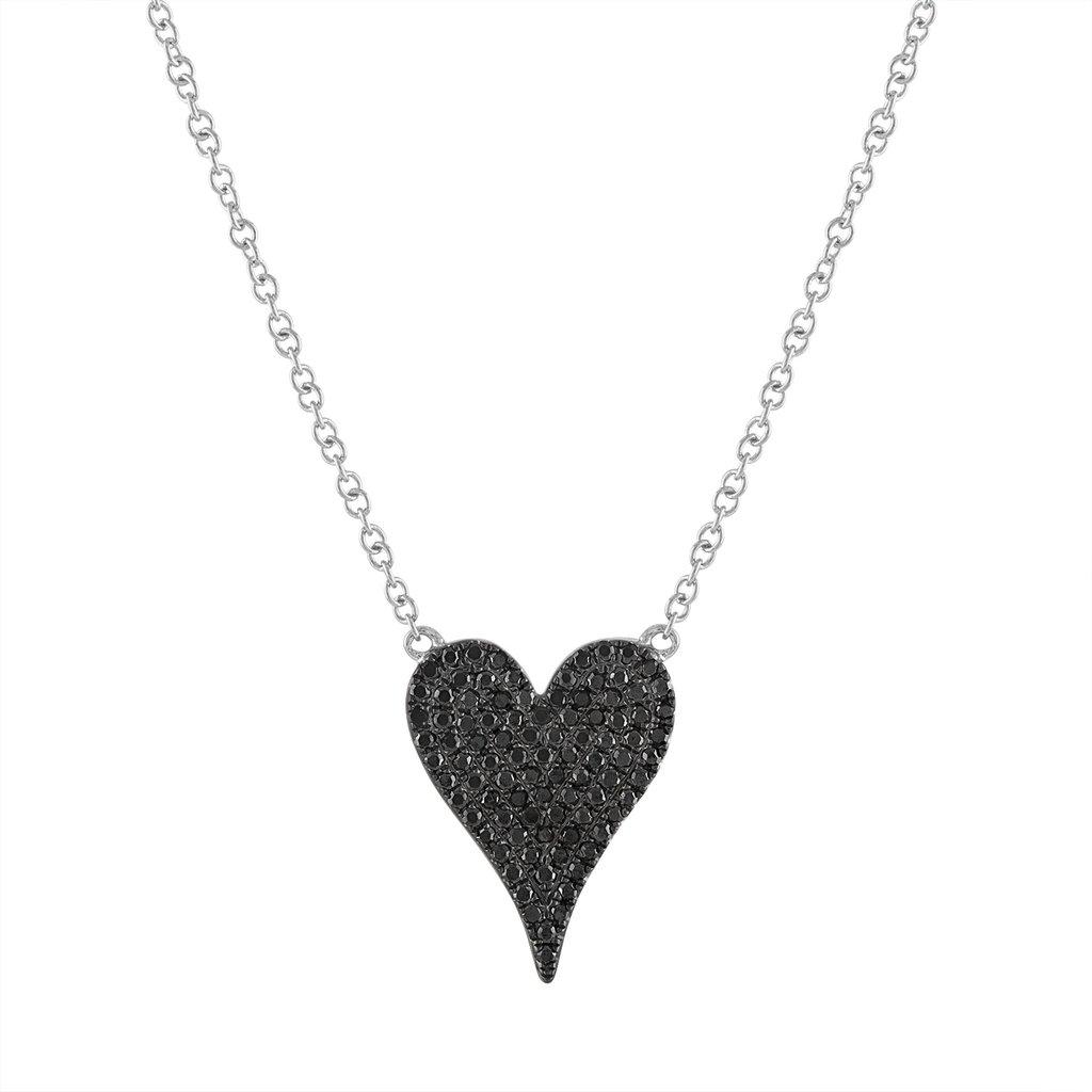 50fab543d357f9 Black Diamond Small Heart Necklace - Stephanie Gottlieb Fine Jewelry