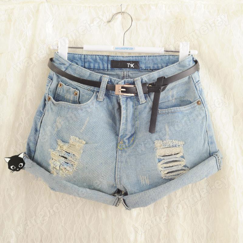 Шорты джинсовые с дырками