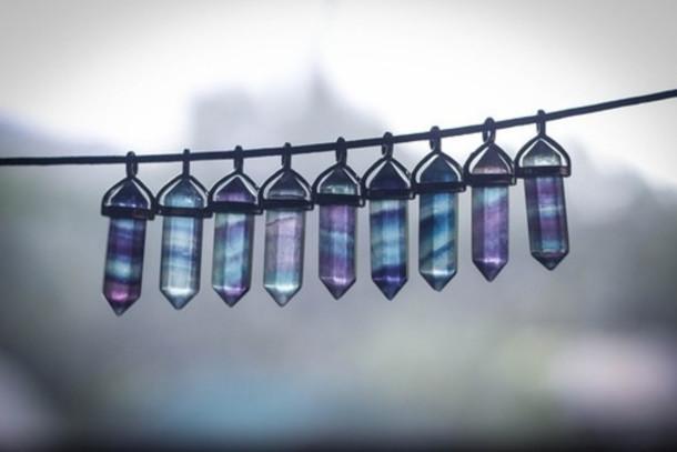 jewels crystal necklace grunge vibrant charms gemstone colorful magic crystal wonderful