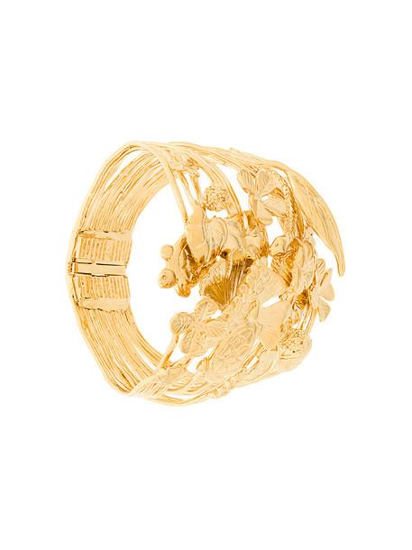 cuff women cuff bracelet gold grey metallic jewels