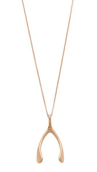 rose gold rose wishbone necklace gold jewels