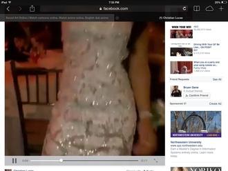 dress sequin dress white/ivory white dress ivory dress long dress body fitted dress