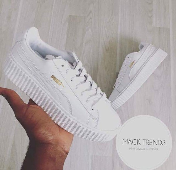 shoes white shoes puma puma sneakers low top sneakers