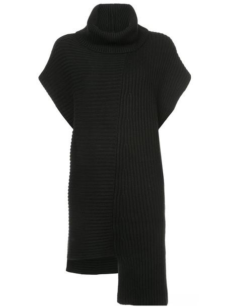 Derek Lam - Oversized Turtleneck Tunic With Asymmetrical Hem - women - Cashmere - S, Black, Cashmere