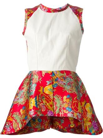 dress structured flared dress mini dress caterina gatta flare print dress