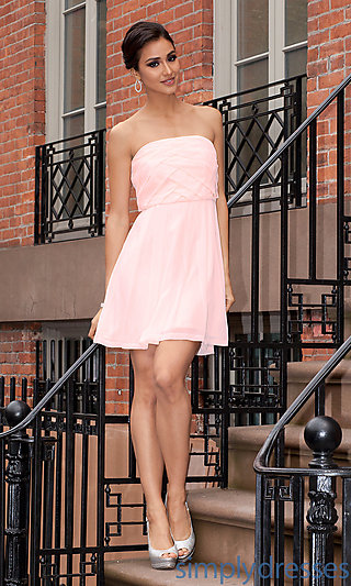 Strapless Short Pink Dresses, Pink Party Dresses - Simply Dresses