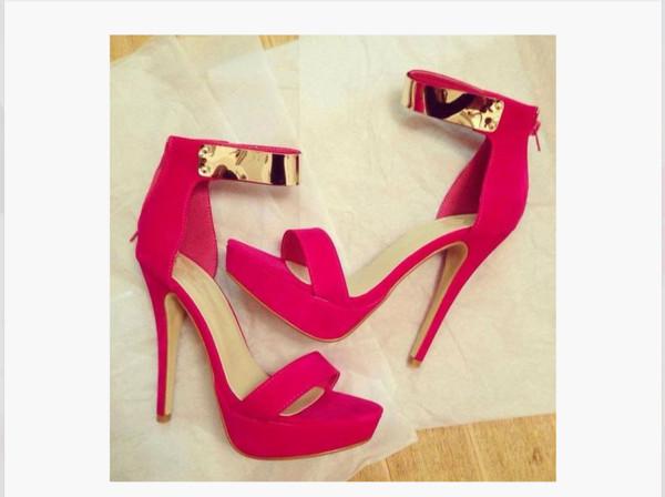 shoes sandals heels heels color pumps wedges sexy gold pink high heels