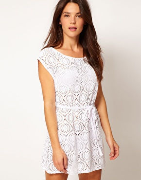 Freya cha cha slash neck crochet tunic at asos