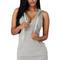 Gray v neck sleeveless mini hooded dress
