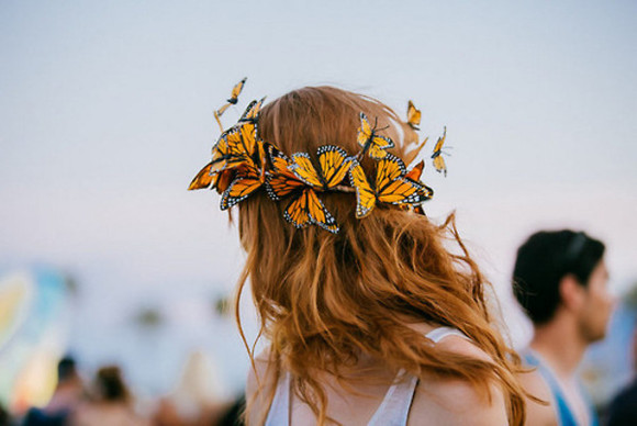 butterfly hair accessories floral crown headband butterflyheadband hair coachella
