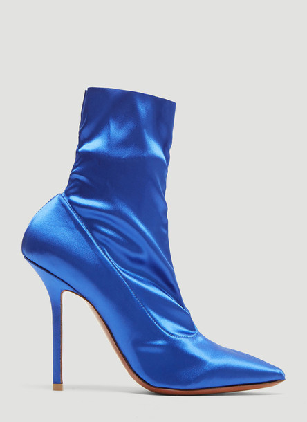 Vetements Satin Ankle Boots in Blue size EU - 38