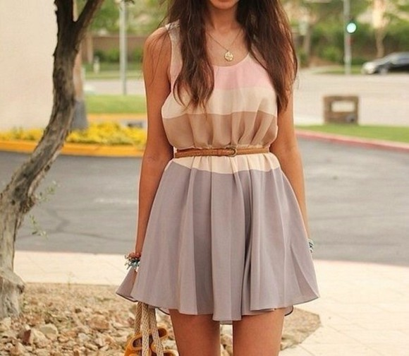 girly cute dress summer sweet feminine beige creme rosy