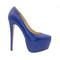Blue platform high heel 16cm