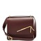 Straw medium leather cross-body bag