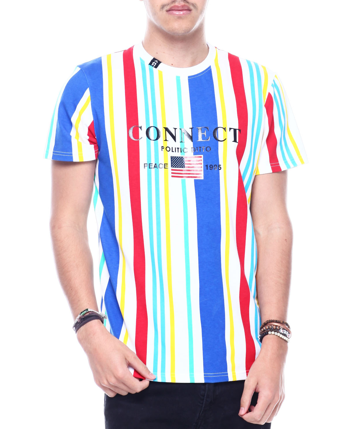 CONNECT MULTI STRIPE TEE by Buyers Picks