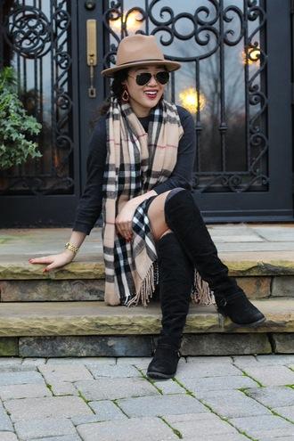 gracefullee made blogger dress scarf shoes hat jewels sunglasses make-up