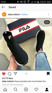 shoes,fila,christmas,black,white,trendy,outfit