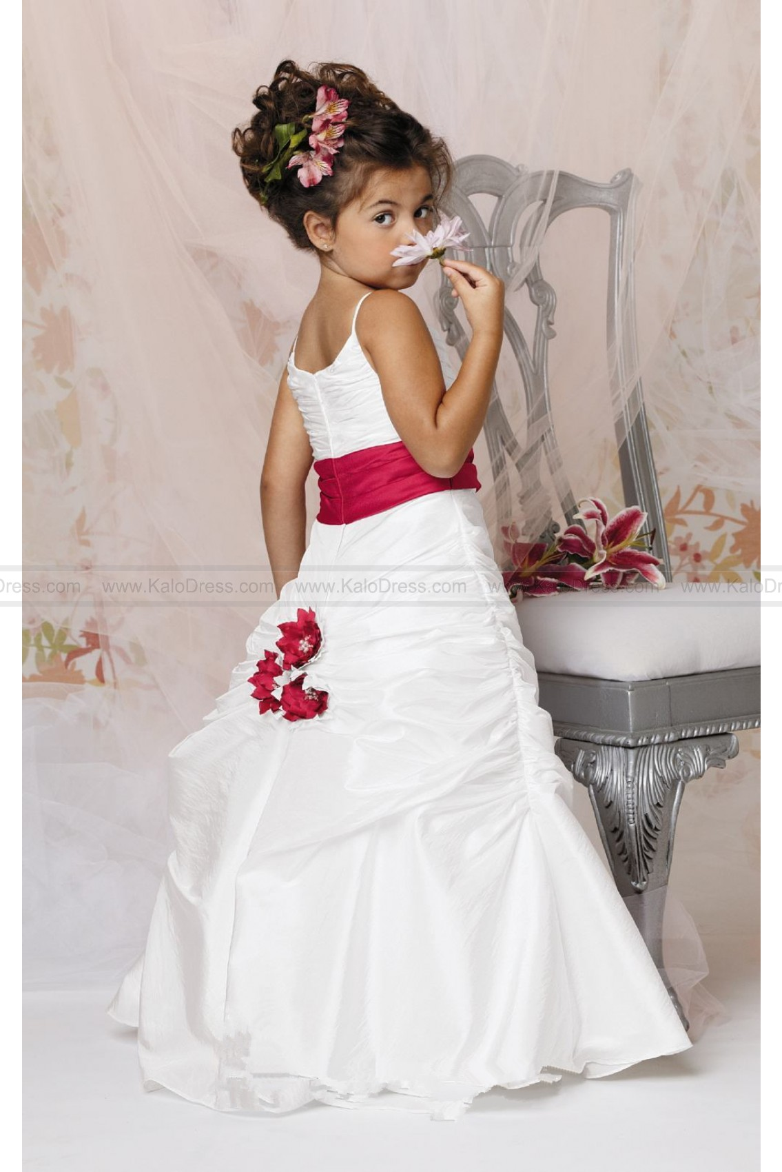 Draped Tufted Gown by Jordan Sweet Beginnings Collection L290 - Flower Girl Dresses 2014 - Wedding Party Dresses