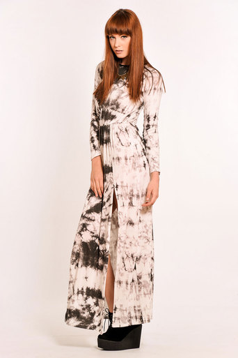 Ladies Viveca Tie Dye Side Split Maxi Dress | Pop Couture