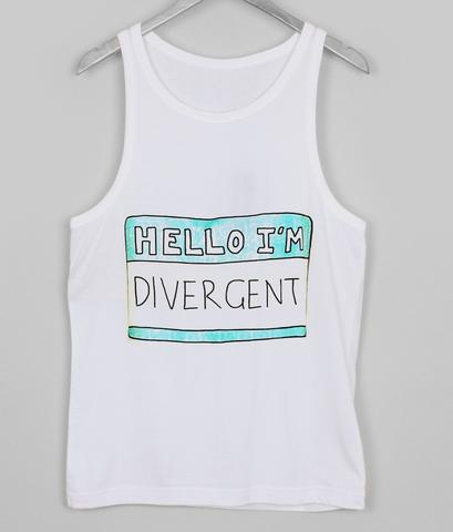 hello i'm divergent Tank top