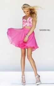 sherri hill 11065,homecoming dress,floral embellished dress,dress